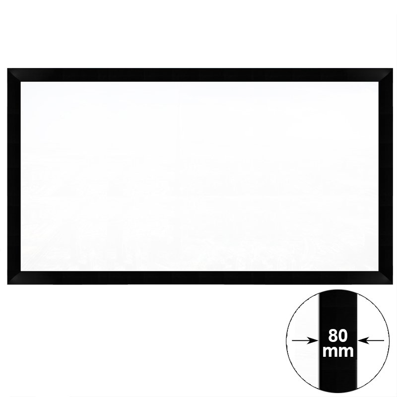 Hd Home Theater Fixed Frame Projector Screen Hk80b Series | Cheap ...