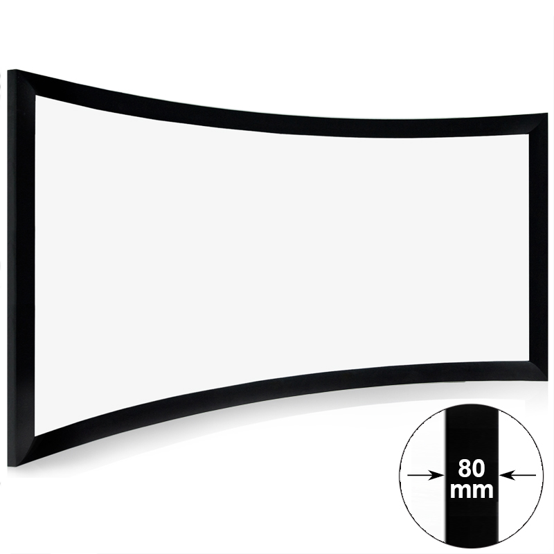 Professional Curved Screen & Curved Fixed Frame Projection Screen On ...