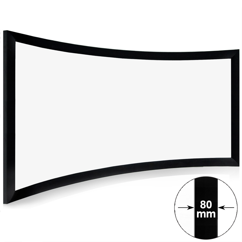 HD Home Theater Curved Frame Projector Screen CHK80B Series