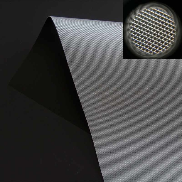 Ultra Short Throw Ambient Light Rejecting Fabric PET Grid