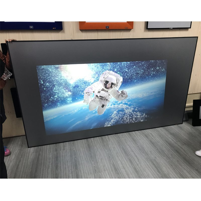 Slim Bezel High Gain Ambient Light Rejecting Projector Screen ZHK100B-Black Crystal HG