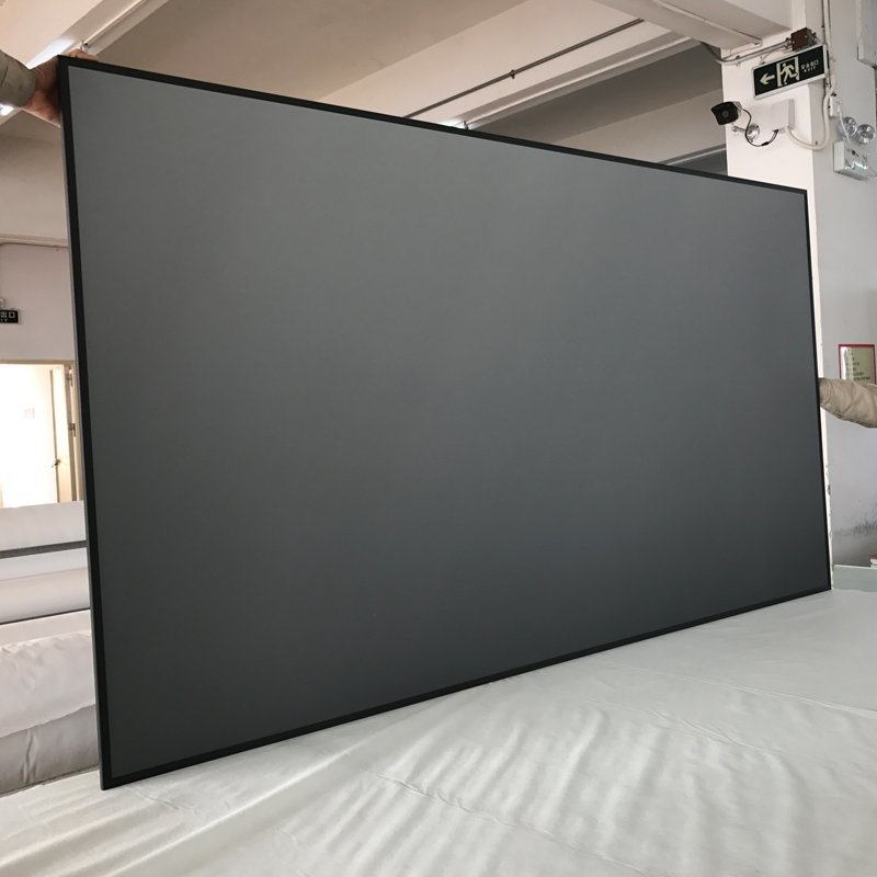Ambient Light Rejecting Ultra Short Throw Projector Screen With Ultra Thin Frame ZHK100B-PET Crystal