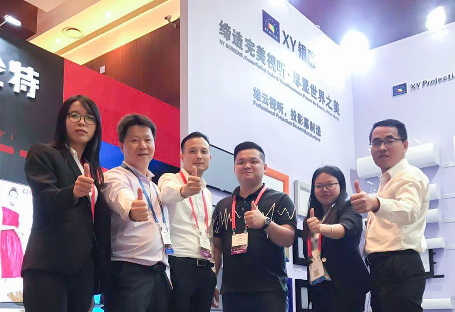 XY Screens Achieves Complete Success at InfoComm China 2018!