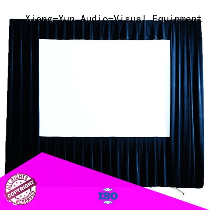 XY Screens Brand 80135 fast outdoor pull down projector screen