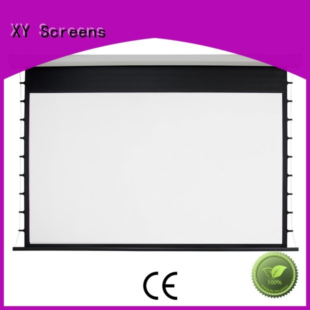 large projector screen electric retractable XY Screens Brand company