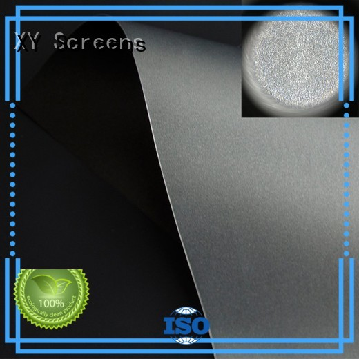 XY Screens Brand rejecting crystal matte white fabric for projection screen standard