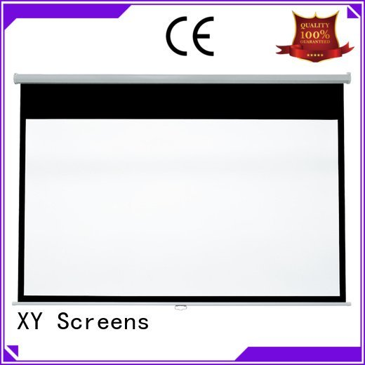 OEM pull down rear projection screen projector screen down pull down projector screen