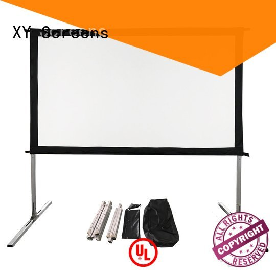 OEM outdoor pull down projector screen outdoor projector screen