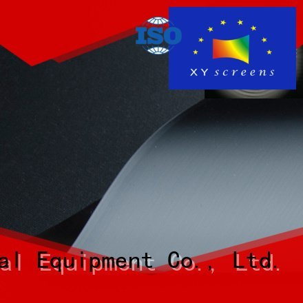 Quality matte white fabric for projection screen XY Screens Brand Ambient Light Rejecting Fabrics