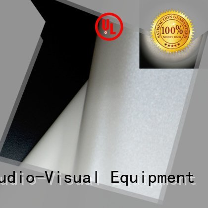 Custom pvc front and rear fabric pro HD home theater projection screens with soft PVC fabric