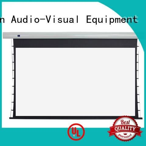 tab tensioned electric projector screen XY Screens